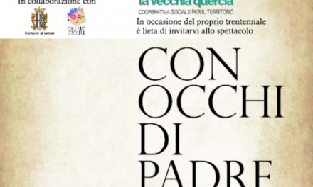 """La Vecchia Quercia vi aspetta il 22 settembre al teatro """"Con Occhi di Padre"""""""