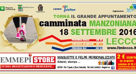 Camminata Manzoniana: appuntamento al 18 settembre