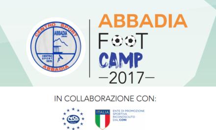 Ultimi giorni per iscriversi all'Abbadia Foot Camp!